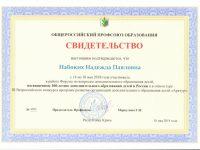 Свидетельство Н.П. Набоких